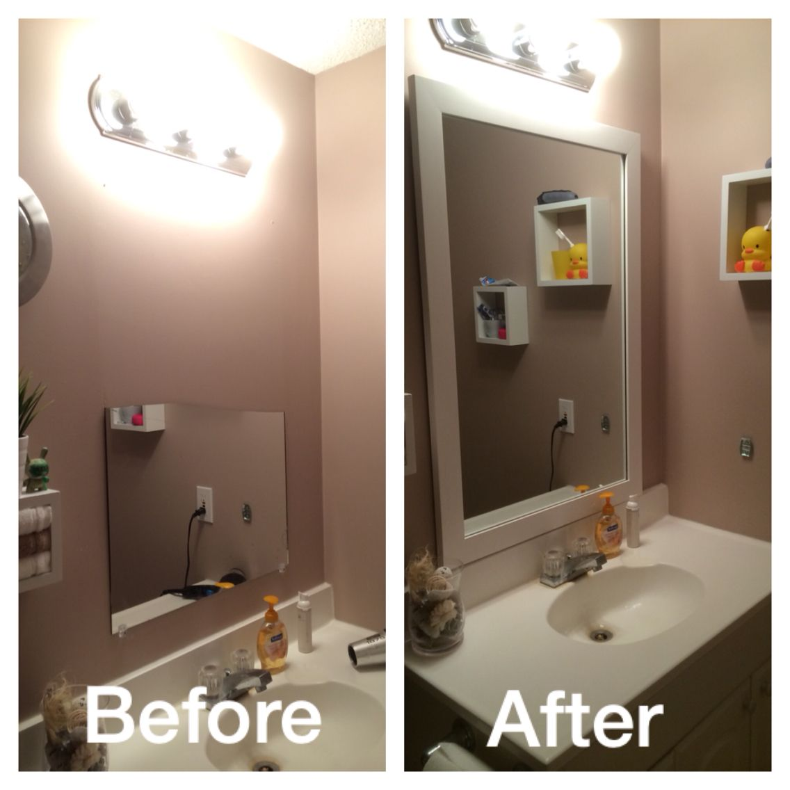 Simple & Luxurious Upgrade to Bathroom Mirror! My previous mirror cracked  in half :(