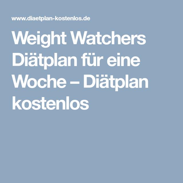 Weight Watchers Diatplan Fur Eine Woche Diatplan Kostenlos Ww