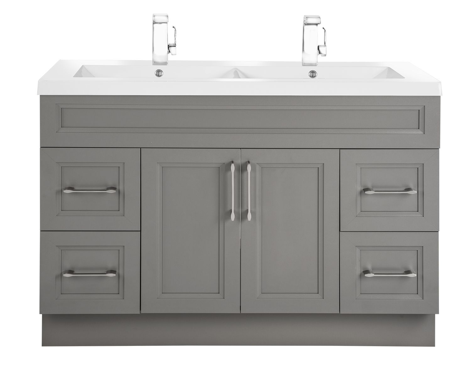 Classic Collection 48 Double Sink In Fossil Bevel Shaker Style