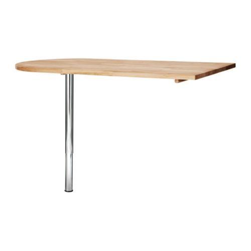 Gerton vika byske table ikea bois massif un mat riau for Table de cuisine a fixer au mur