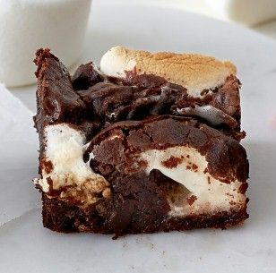 Marshmallow-Brownie #breadrecipessweet