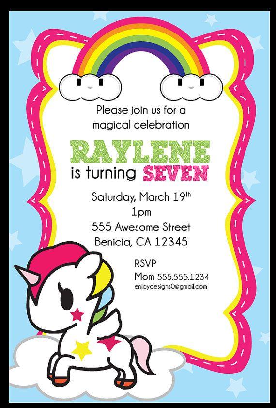 Tokidoki Unicorno Birthday Invitation by enJOYdesigns0 on ...
