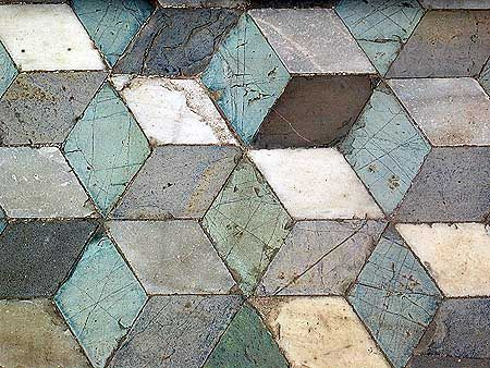Roman mosaics at Piazza della Vittoria, Palermo, Sicily. Is this too complex?