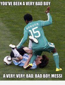 Soccer player spanked