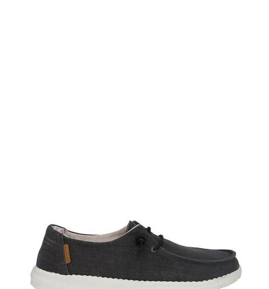 Hey Dude Ladies Wendy Chambray Off Black Shoes 121414949