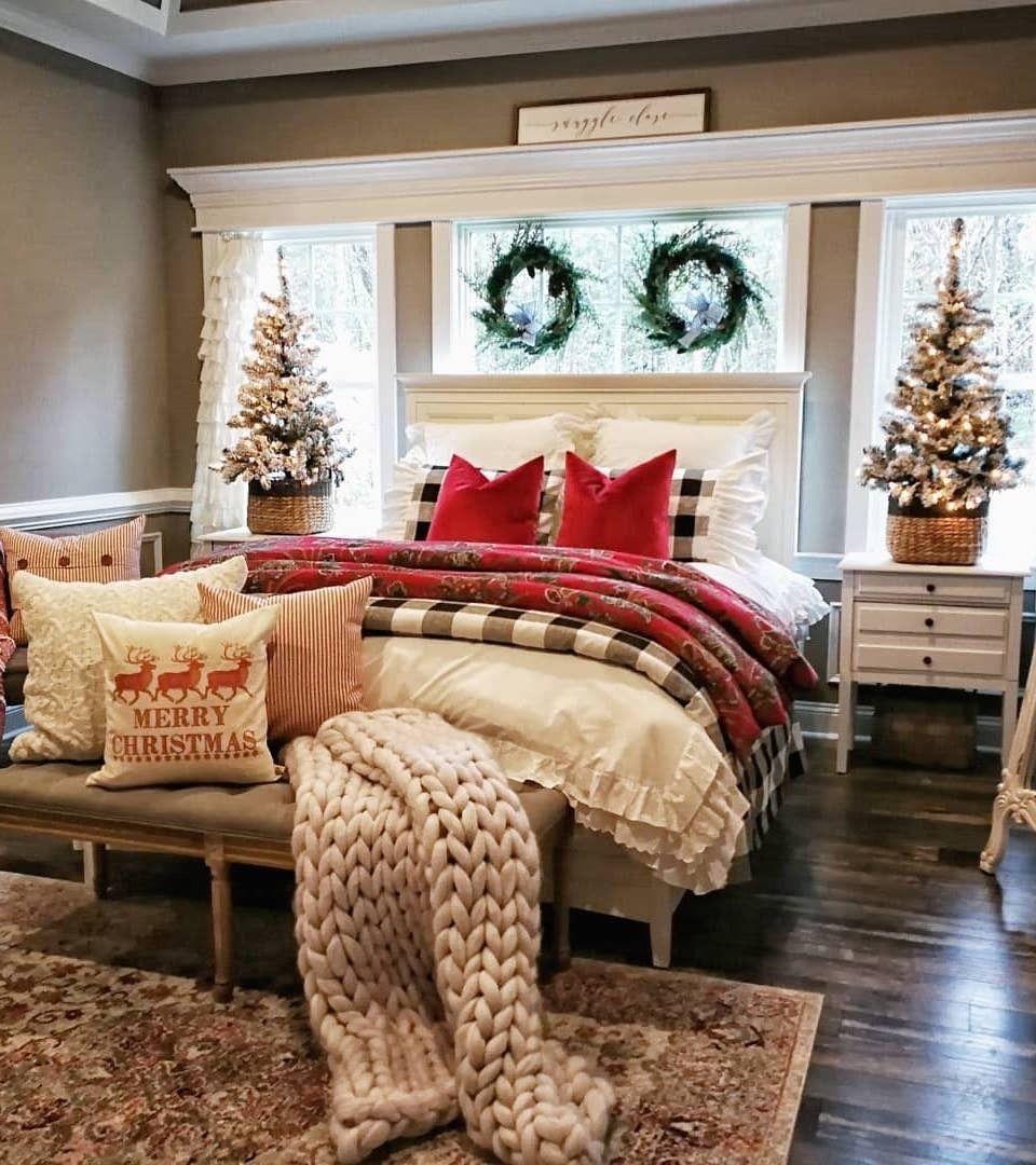 Farmhouse Christmas Bedroom Tour Home decor, Home decor