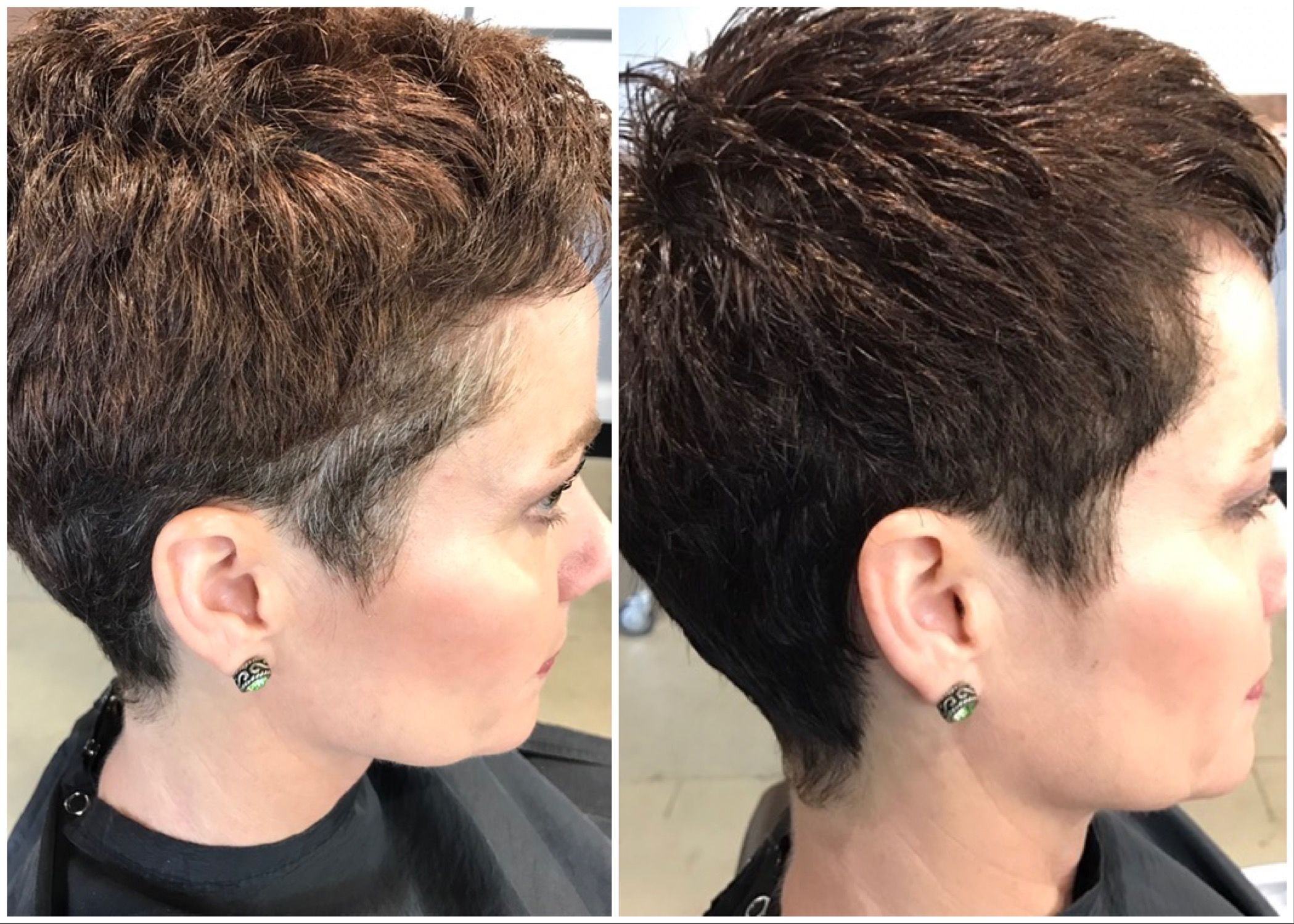 Grey blending and a womans pixie haircut using aveda mens grey grey blending and a womans pixie haircut using aveda mens grey blending and aveda styling products winobraniefo Images