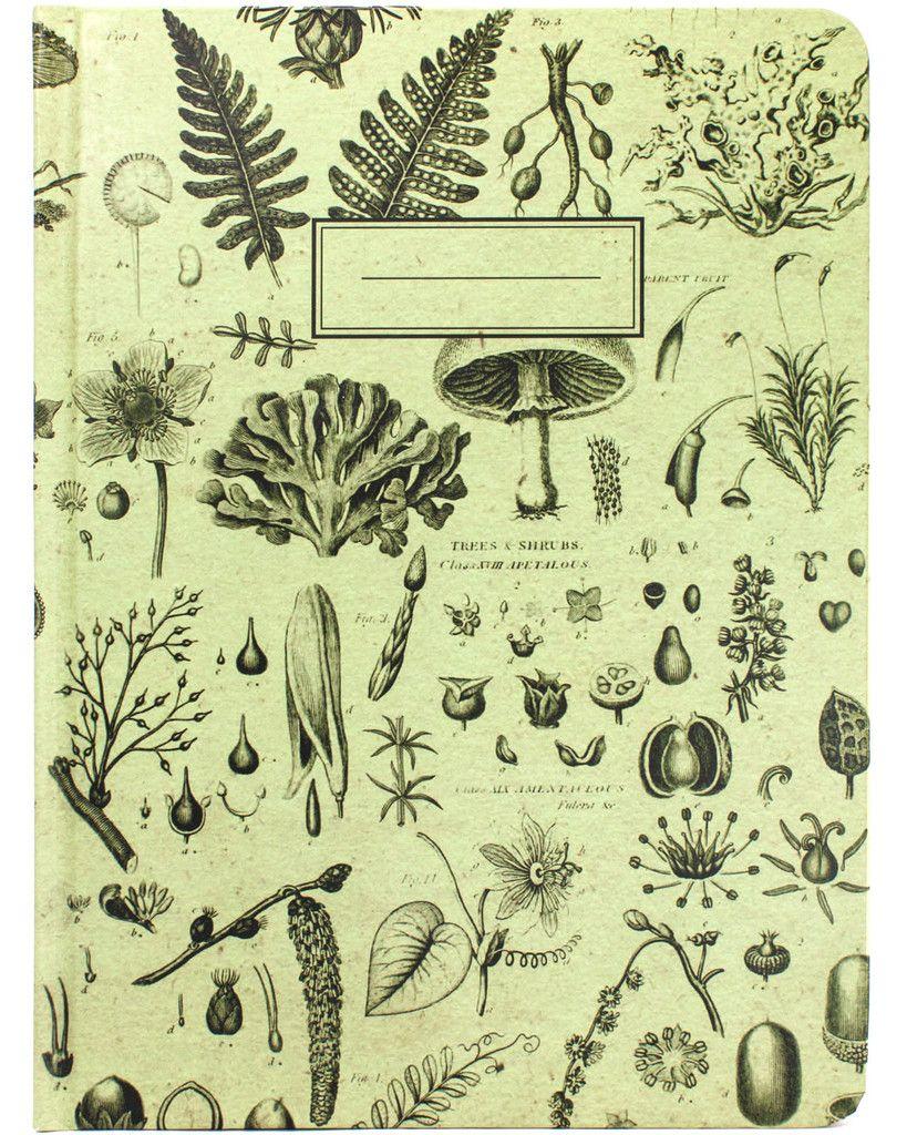 Plants & Fungi Vintage Hardcover Journal