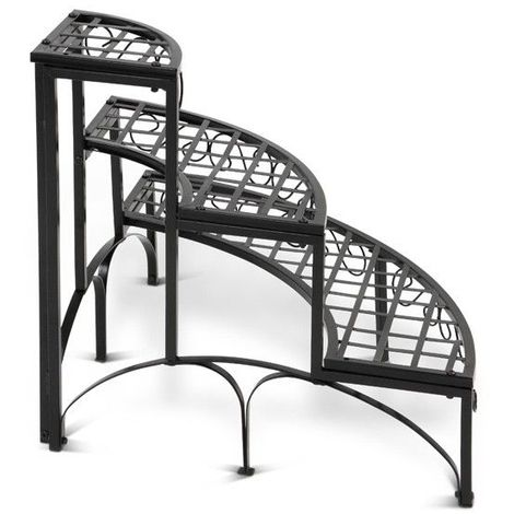 etagere d 39 angle fer forge pour plantes jardin. Black Bedroom Furniture Sets. Home Design Ideas