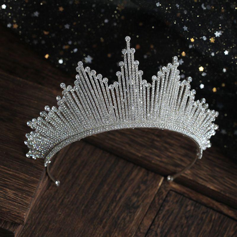 Wedding Hairstyle App: Classic Silver Rhinestone Tiara Wedding Accessories 2019