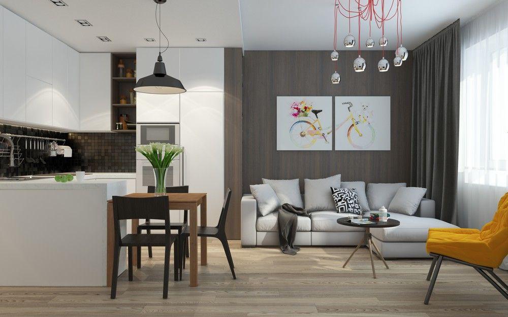 5 apartment designs under 500 square feet interior - 500 sq ft apartment layout ...