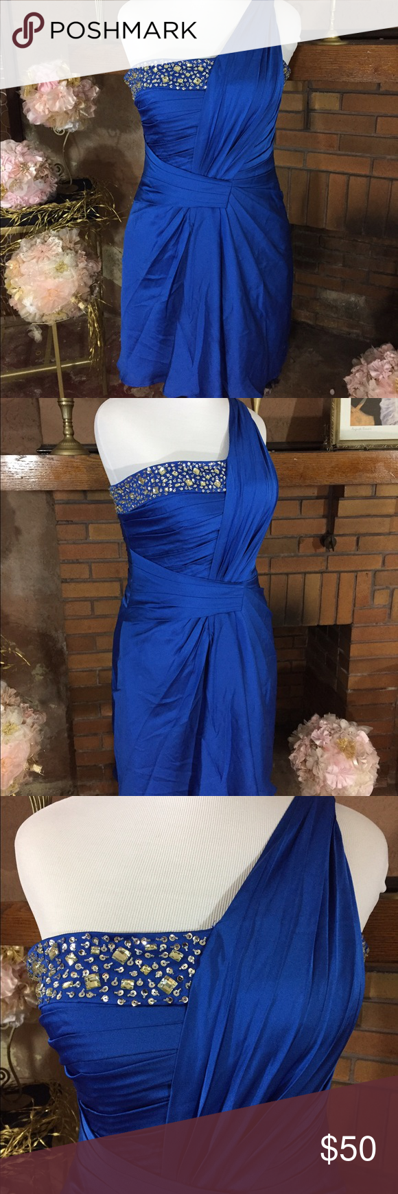 Formal plus size dress dress prom royal blue and formal