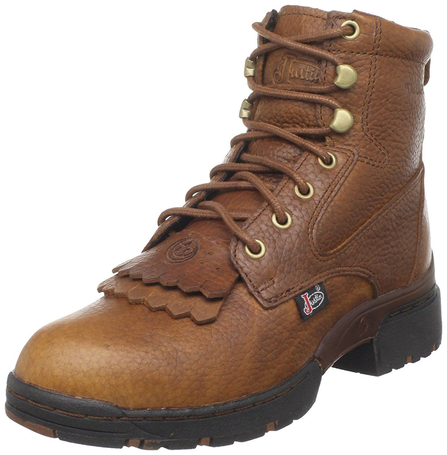 Justin Boots Women S George Strait L0919 Series 6 Waterproof Lace Up Boot Check Out This Great Image Justin Boots Justin Boots Womens Cowboy Boots Women
