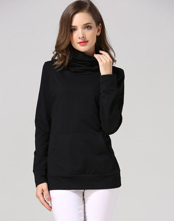 a6f6c42e00 A lovely turtleneck sweater versatile for maternity and nursing. Available  in black