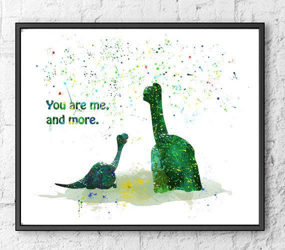 Good Dinosaur Watercolor Print, Arlo Watercolor Art, Dinosaur Art Print, Movie Poster, Wall Art, Kids Room Decor, Nursery Decor - 471 #dinosaurart