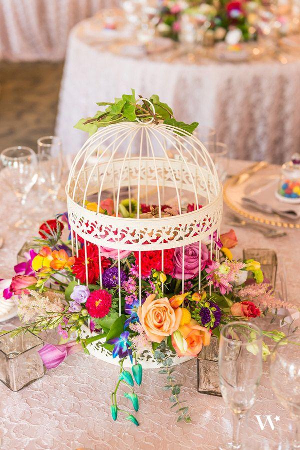 Echte Hochzeit Inspiration Vogelkafig Herzstuck Hochzeit Ideen