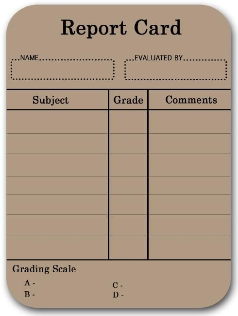 Downloadable Homeschool Report Card Template  Homeschool