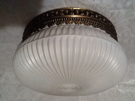 Vintage Ceiling Light Fixture 1930s 1940s Very By