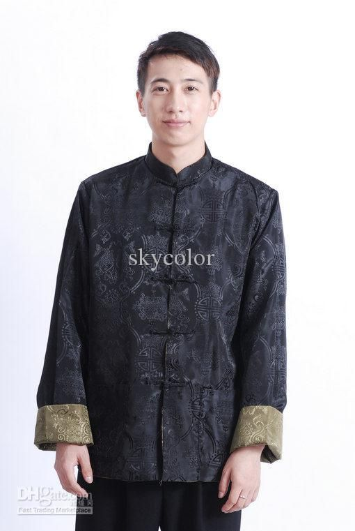 69ee5da8b Best Traditional Reversible Chinese Men's Kung Fu Jacket/coat Size:  M,L.XL.XXL.XXXL Black/green Online with $20.83/Piece | DHgate