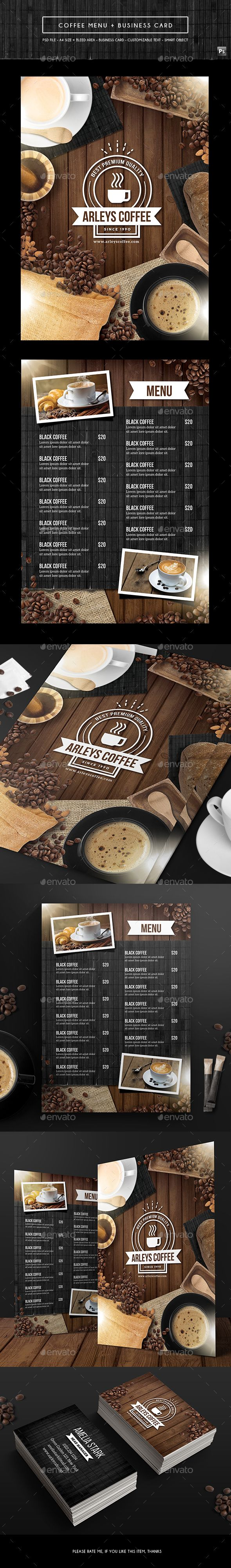 Coffee menu business card coffee menu business card psd and psd coffee menu business card psd template only available here http wajeb Images