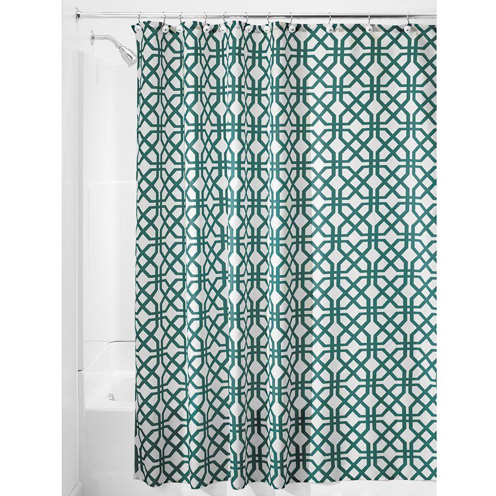AmazonSmile - InterDesign Trellis Shower Curtain, 72 x 72, Stone -