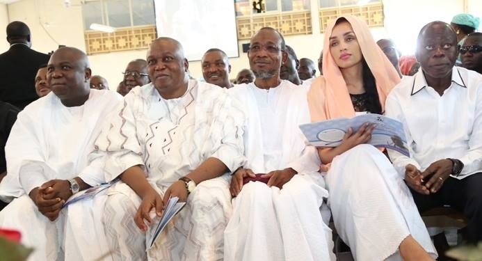 Ambode, Oshiomhole At David Lawal's Thanskgiving Service In Abuja (Pics) - Politics - Nigeria