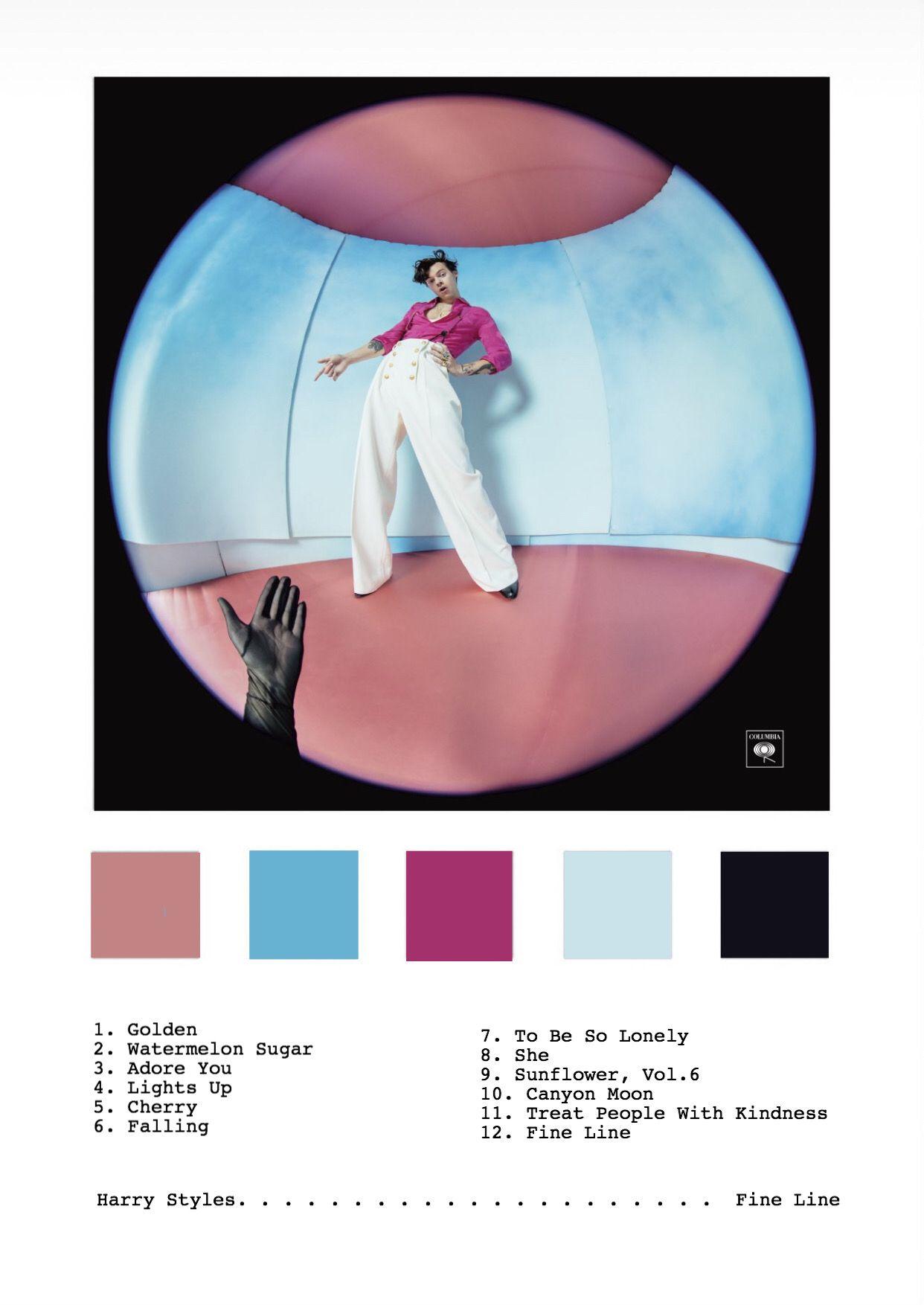 harry styles fine line album print
