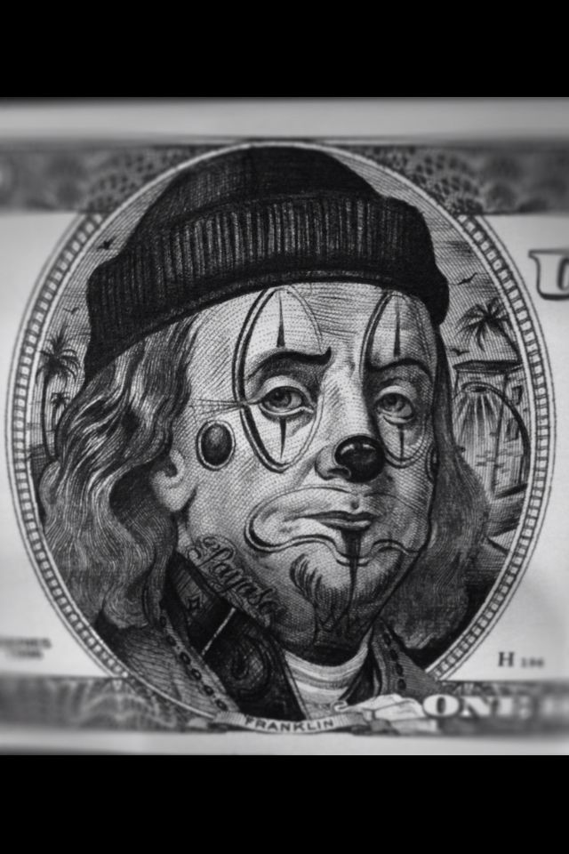 By Mike Jupp Ball Point Pen On A C Note Desenhos Chicano