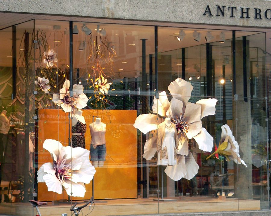 Floral paper creations window displays visual for Window design center