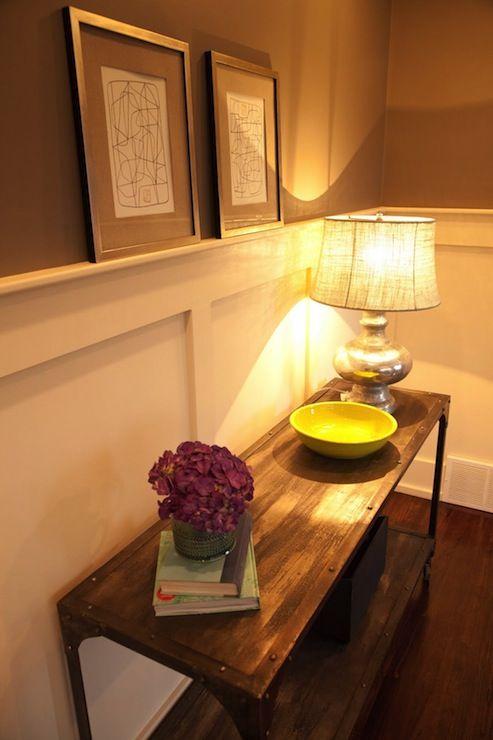 Ashley Winn Design - entrances/foyers - chic foyer, foyer, chocolate ...