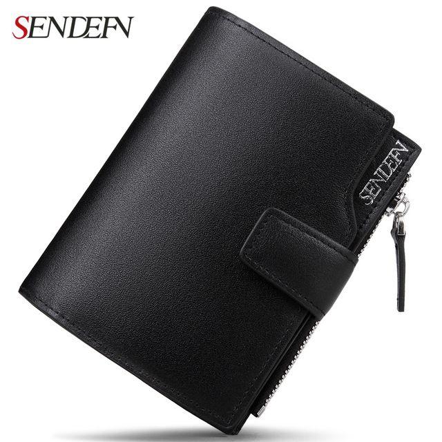 Fashion Men/'s Short Bifold Leather Credit Card Holder Billfold Wallet Purse US