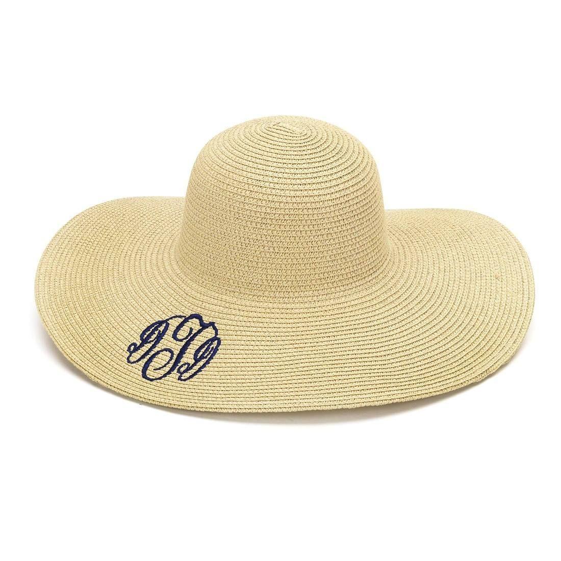 df8a700df7f6bd Monogram Floppy Hat | Striped Hat | Straw Hat | Beach Hat | Floppy Beach Hat  | Floppy Straw Hat | Monogrammed Hat | Kentucky Derby Hat