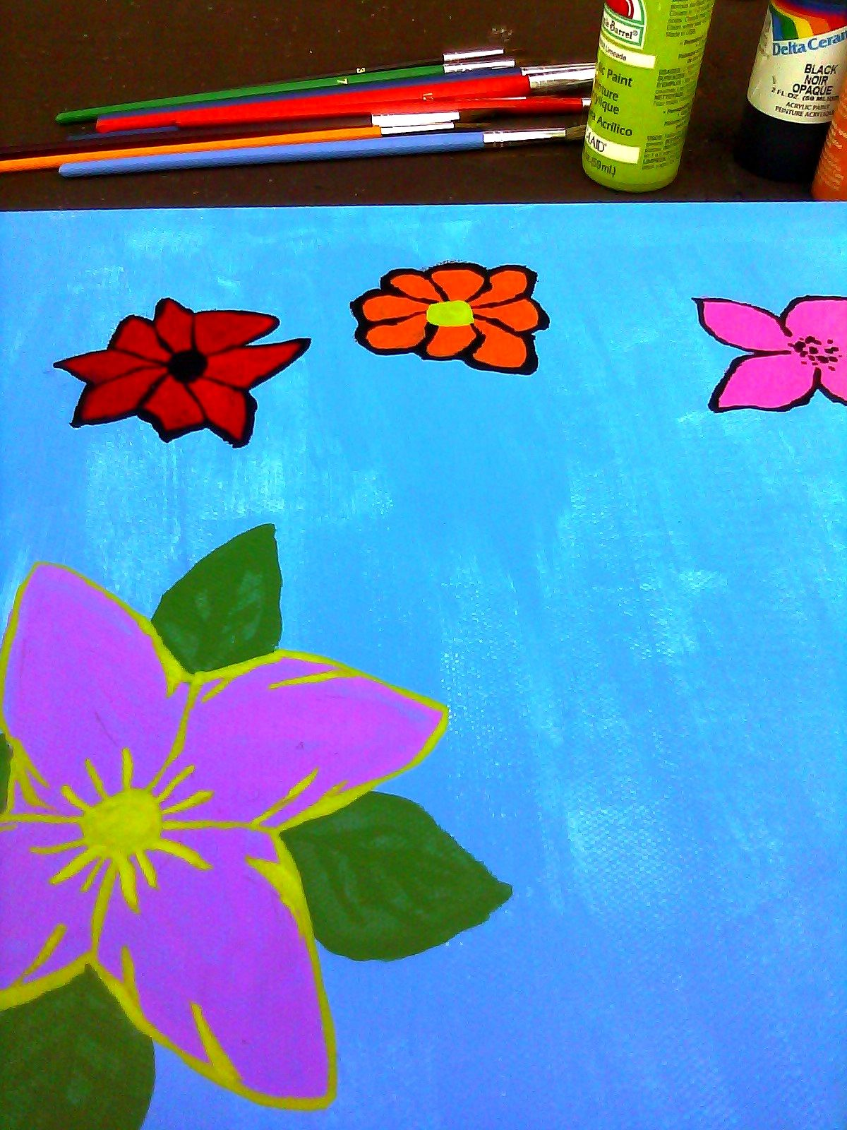 Flower Painting.