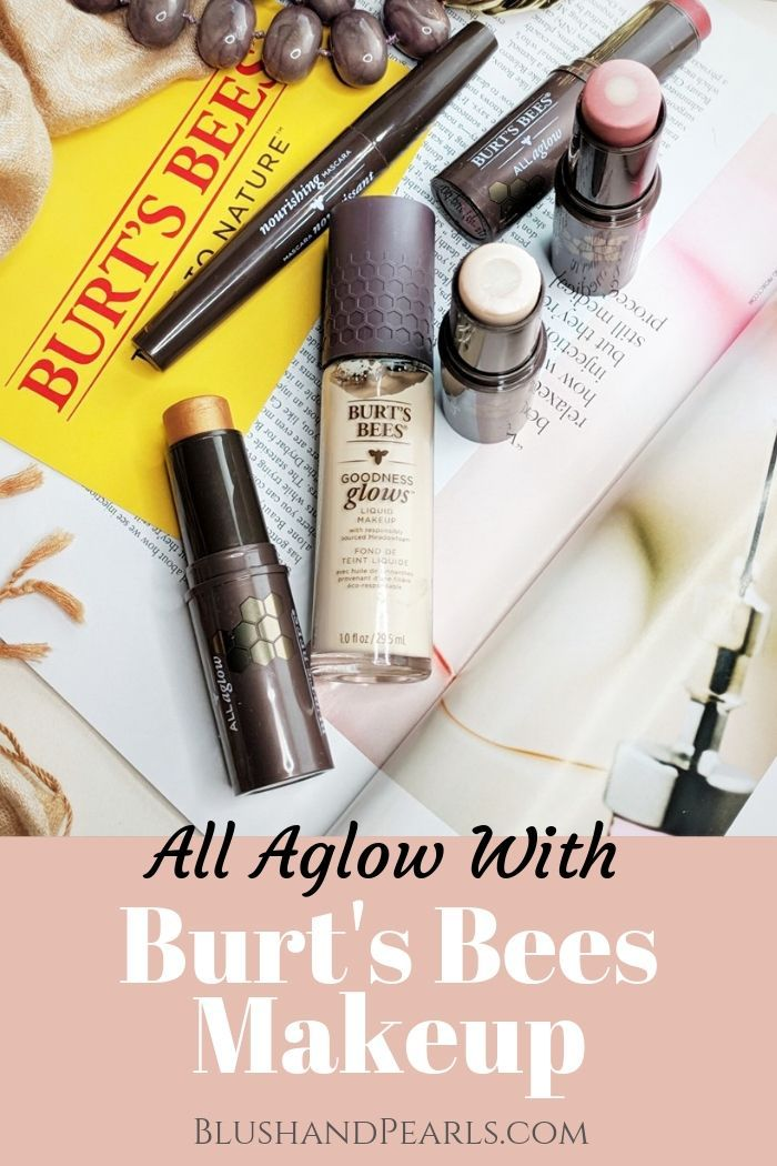 I'm All Aglow With Burt's Bees Makeup Blush & Pearls