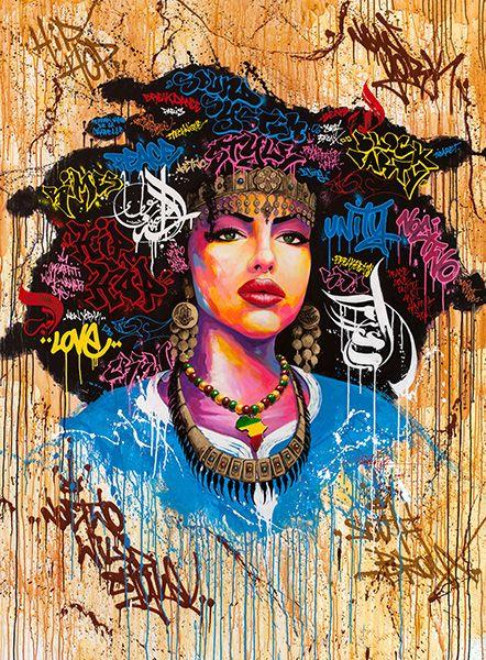 Aisha | Noe two ArtStore | visionary artists | Graffiti art