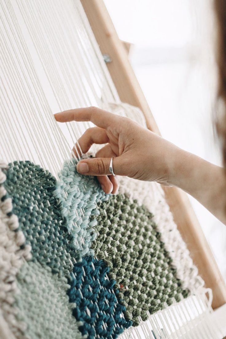 DIY Weaving Loom from Picture Frame — Hello Hydrangea