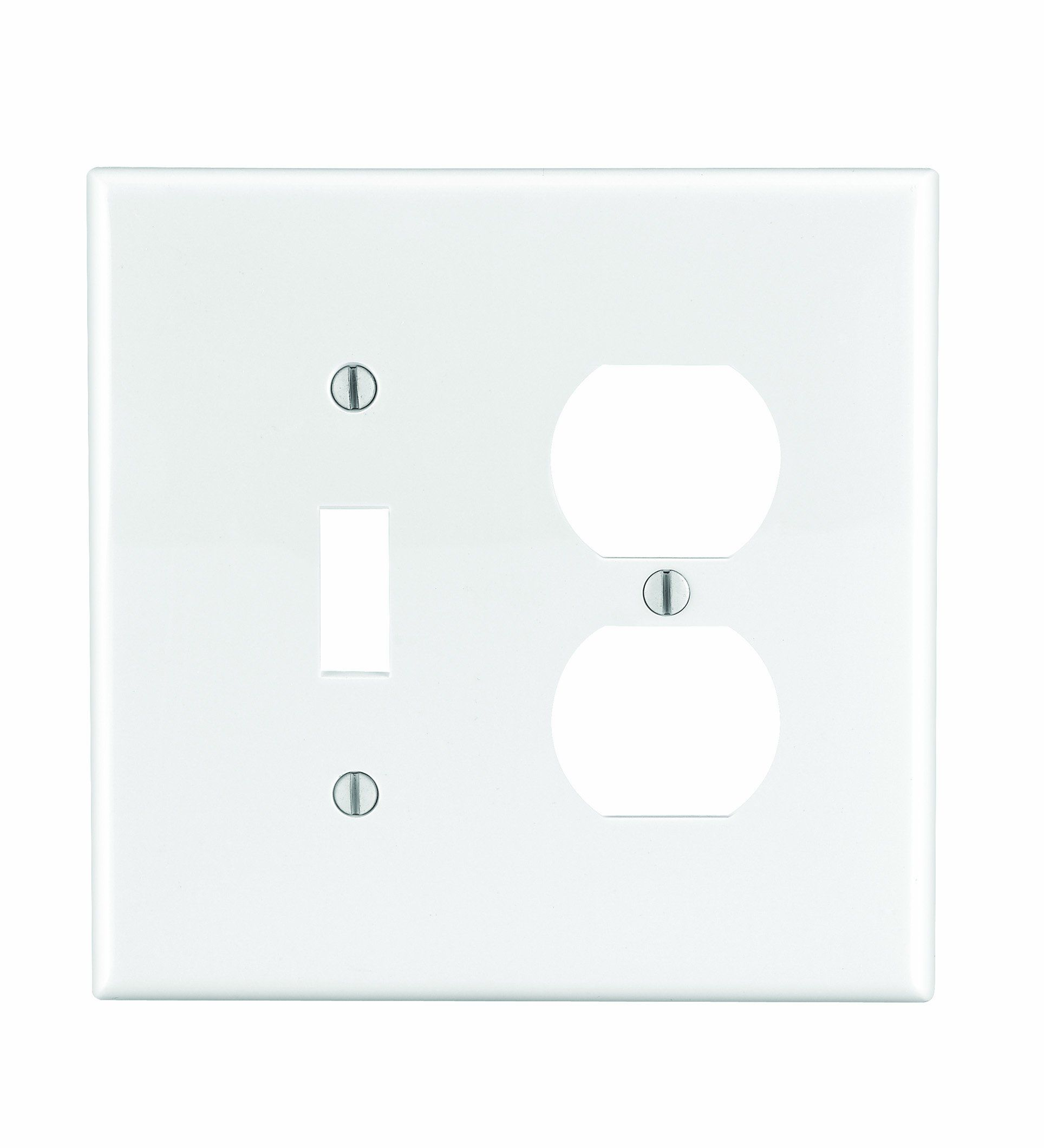 Leviton Pj18 W 2 Gang 1 Toggle 1 Duplex Combination Wallplate Midway Size White You Can Get Ad Light Accessories Plates On Wall Electrical Outlet Covers
