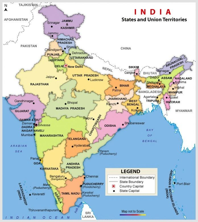 Map Of India Hd map of india hd | Map of India With States in 2019 | India map