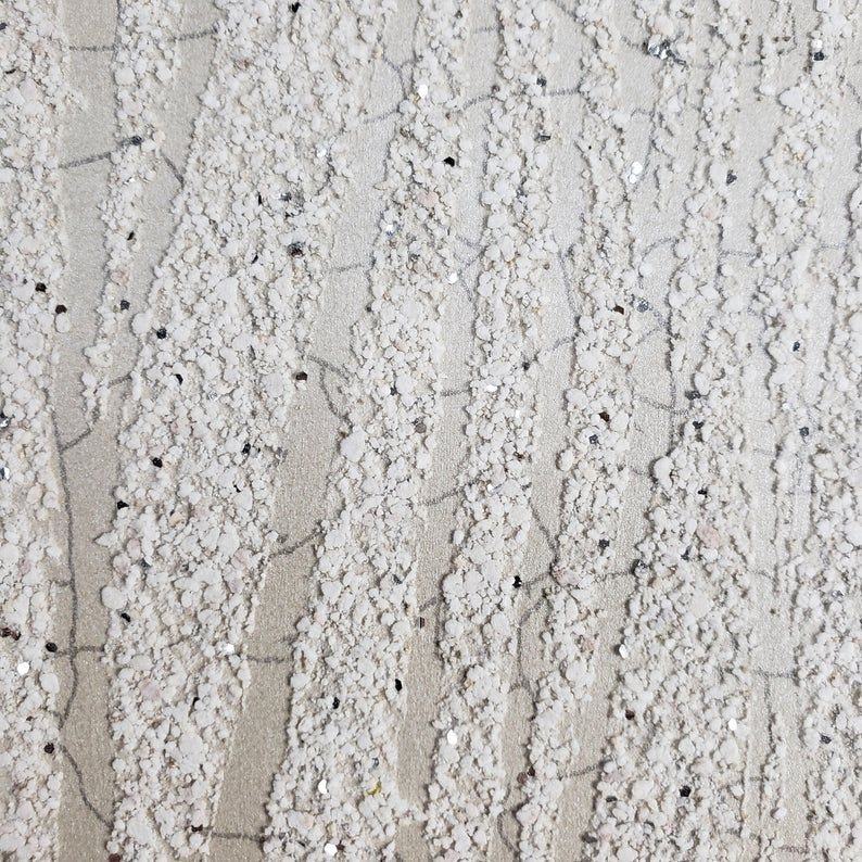 Wallpaper Textured Cream Ivory Mica Vermiculite Natural