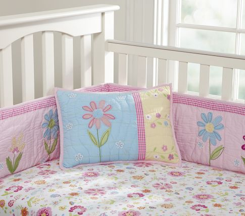 Daisy Garden Nursery Bedding Pottery Barn Kids 260 For Bed Skirt Per Ed Sheet And Quilt