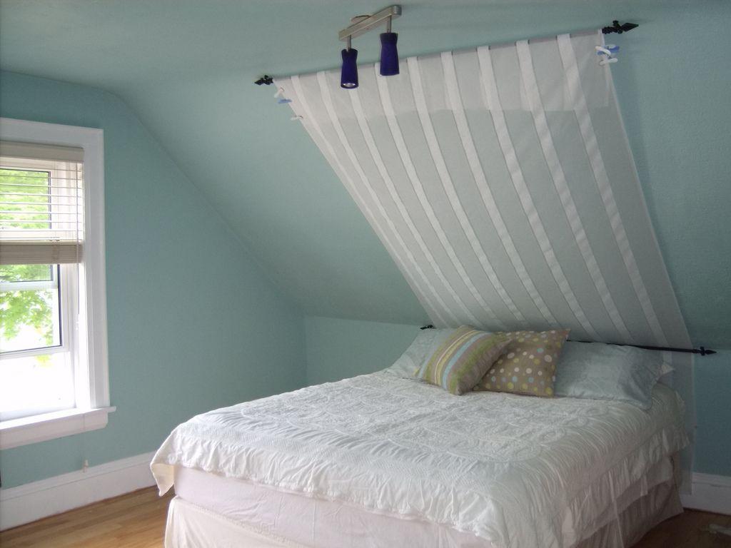 Bedroom - In the works. in 2019 | Sloped ceiling bedroom ...