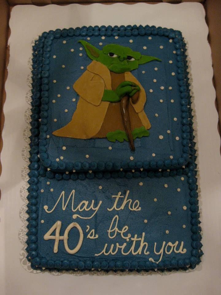 Star Wars Inspired 40th Birthday Cake Edible Art 40th