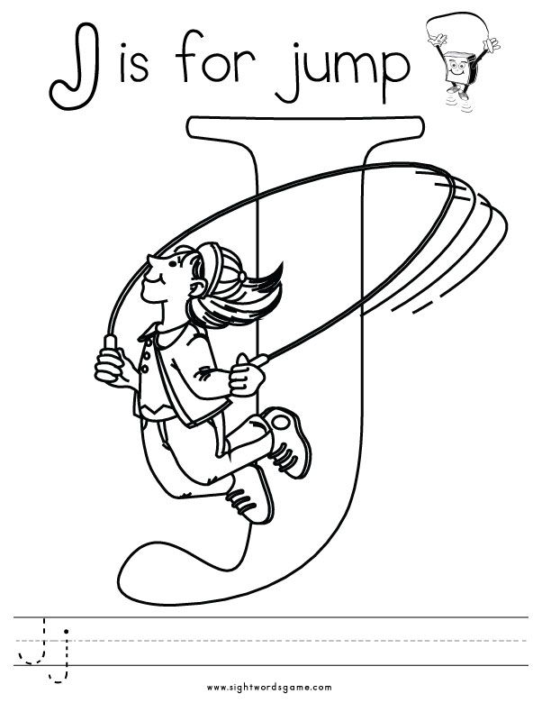 Letter-J-Coloring-Page-2 | Letters of the Alphabet | Pinterest ...