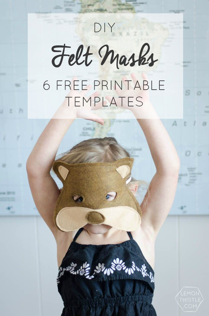 I love these DIY Felt Masks- 6 Free Printable Templates! Awesome - love templates free