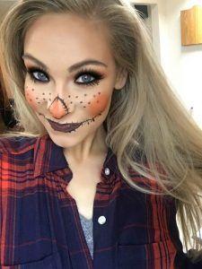 Halloween DIY easy scarecrow makeup #scarecrowmakeup Halloween DIY easy scarecrow makeup #scarecrowmakeup