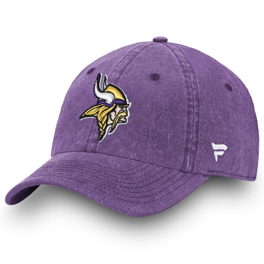 f3e599206 Men's Minnesota Vikings NFL Pro Line by Fanatics Branded Purple Timeless  Core Fundamental Adjustable Hat,