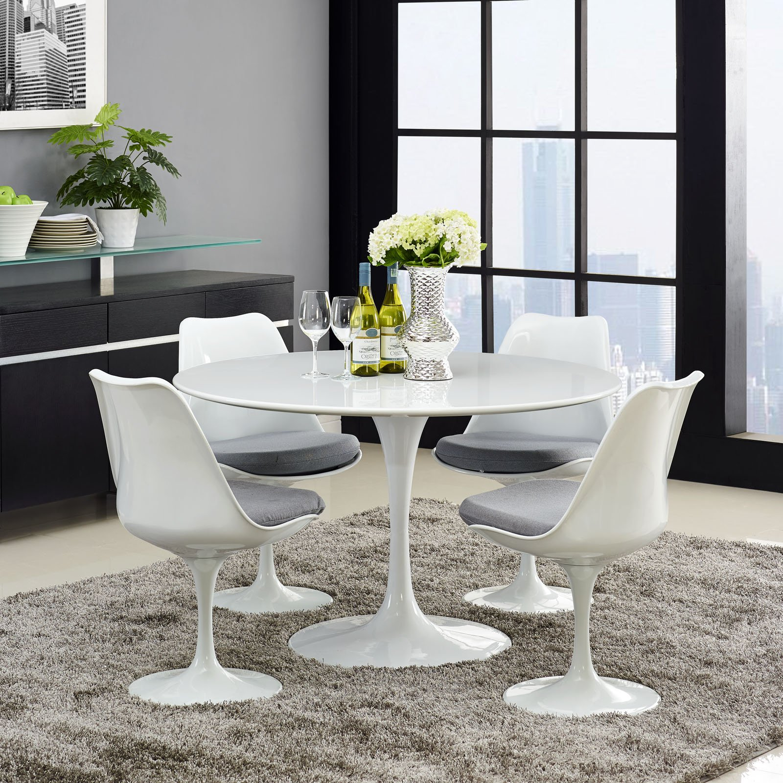 Tulip 47 Round Wood Top Dining Table Wl 00103 Mw Lippa Dining