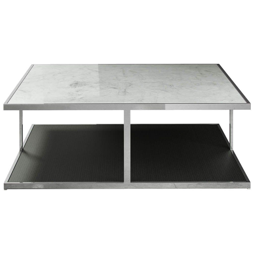 - Modern White Marble Top Coffee Table. Add Some Design Drama To
