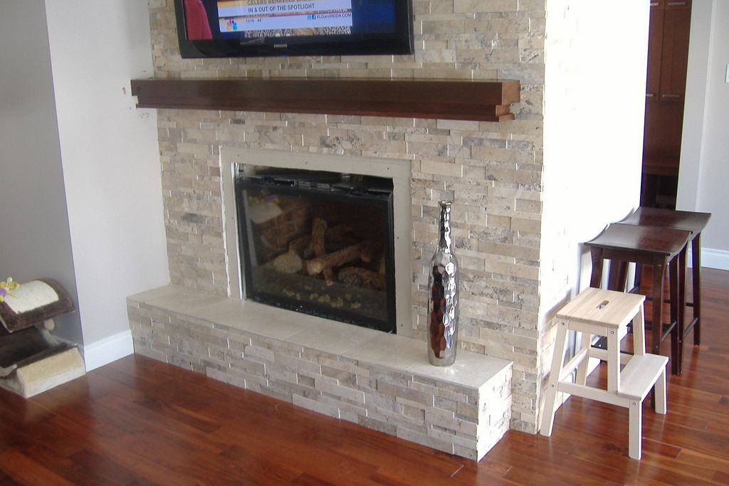 Split Face Stone Fireplace By Cristal Tile World Home
