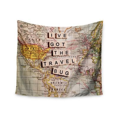 """KESS InHouse """"Travel Bug"""" by Sylvia Cook Wall Tapestry Size:"""